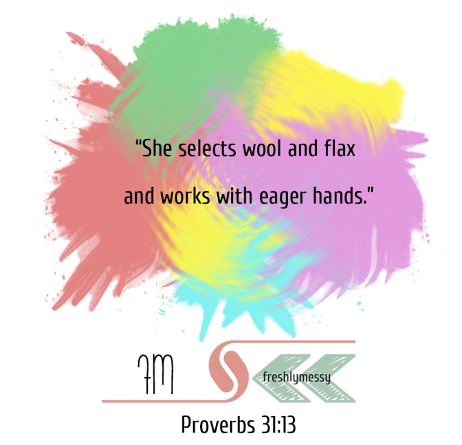 proverbs 31:13 for preschoolers